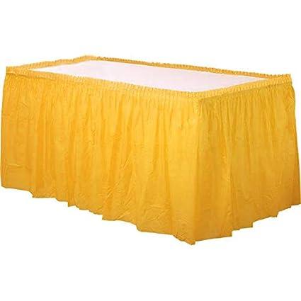 idealWigsNet Falda de Mesa de plástico Amarillo - 73cm x 4.2m ...