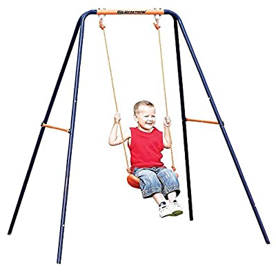 OUYAWEI Kid Indoor Outdoor Play Game Toy Swing Seat Set Plastic Hard Bending Plate Chair and Rope: Toys & Games