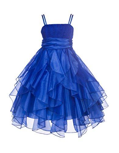 ekidsbridal Ruffled Bodice Spaghetti Straps Organza Flower Girl Dress Ballroom Dress 151S 10