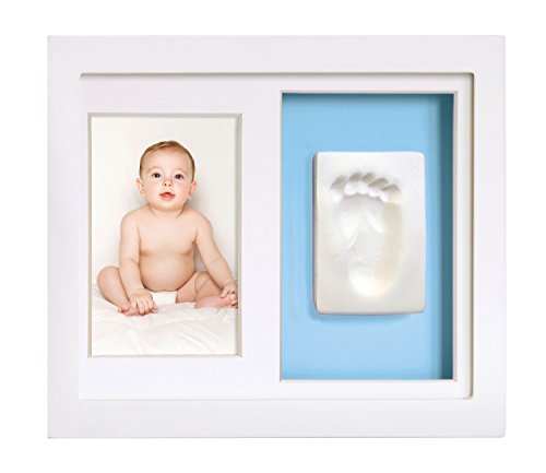 Memento Print Baptism (Tiny Ideas Baby's Footprint or Handprints Kit and Photo Frame Keepsake)
