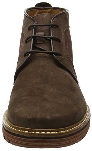 Clarks Newkirk Top, Stivaletti Uomo Marrone (Dark Brown Nub)