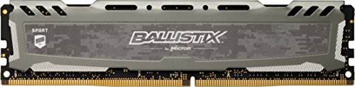 Ballistix Sport LT 4GB Single DDR4 2400 MT/s (PC4-19200) CL16 DIMM 288-Pin - BLS4G4D240FSB (Gray)