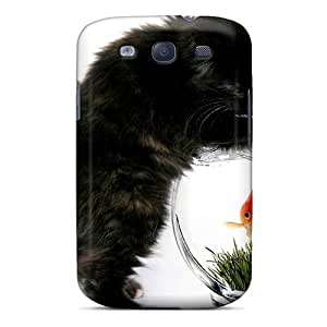Galaxy S3 Case Cover Animals Various Together Cat And Fish Case - Eco-friendly Packaging