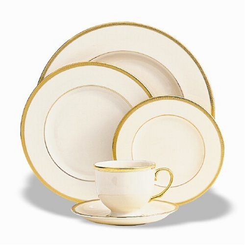Lenox Tuxedo Gold-Banded 5-Piece Place Setting, Service for 1 5 Piece Place Setting Rim