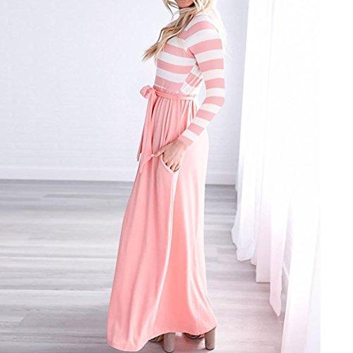 best service f047c fface Signora Vita Da Elegante,lunghi Donna,righe Vestito ...
