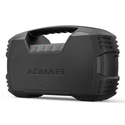 AOMAIS GO Bluetooth Speakers,Waterproof Portable Indoor/Outdoor 30W Wireless Stereo Pairing Booming Bass Speaker,30-Hour Playtime with 8800mAh Power Bank,Durable for Home Party,Camping(Black) (Best Music To Test Speakers Bass)
