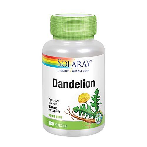 Dandelion Root Capsules - Solaray Dandelion Root Capsules, 520 mg, 180 Count