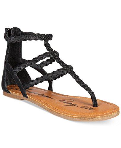 American Rag Womens Madora Open Toe Casual Ankle Strap Sandals Black 2fip8