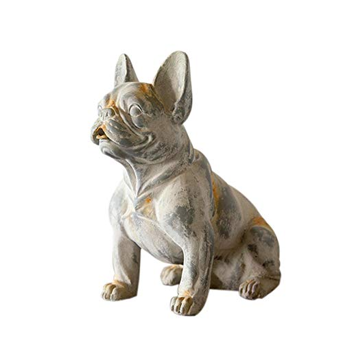 - SDBRKYH Puppy Statue Decoration, French Bulldog Statue Art Pet Hand-Painted Sculpture Holiday Dog Ornament