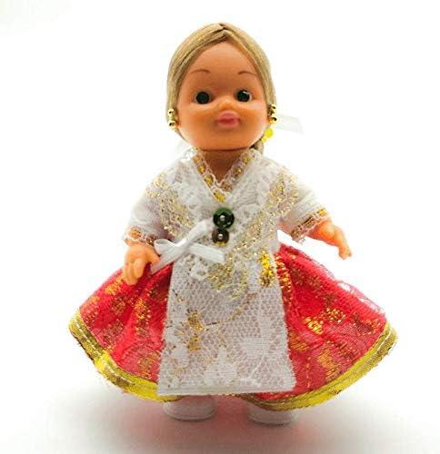 Amazon.es: Folk Artesanía Muñeca Regional colección de 15 cm con Vestido típico Murciana huertana Murcia España.: Juguetes y juegos