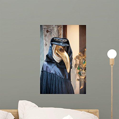 Wallmonkeys FOT-33367801-18 WM164785 Beak Doctor Venetian Mask Peel and Stick Wall Decals (18 in H x 12 in W), Small ()