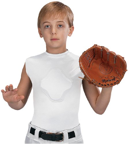 Markwort Youth Heart-Gard Protective Body Shirt, White, Youth Small (Heart Guard Shirt)