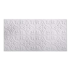 Fasade Glue-Up decorative thermoplastic ceiling panels provides the classic look of traditional tin ceilings for a fraction of the cost. The ceiling panels feature quick and easy direct-apply installation with polyurethane construction adhesi...
