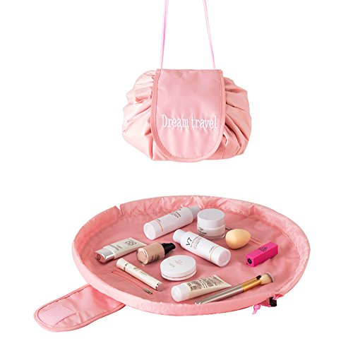 Portable Travel Magic Cosmetic Bag, Casual Large Capacity La