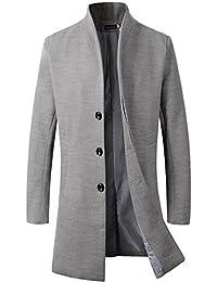 Beninos Men's Trench Coat Winter Long Jacket Button Closer Overcoat