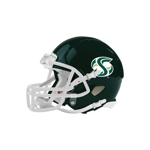 Sacramento State Riddell Replica Dark Green Mini Helmet 'S Mark' (State Replica Mini Riddell)