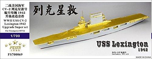 1/700 US Navy aircraft carrier CV-2 Lexington 1942 upgrade set
