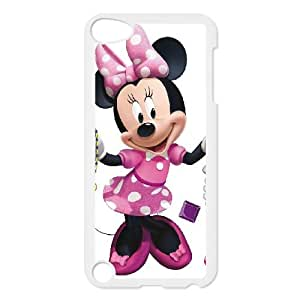 iPod Touch 5 Case White Minnie Mouse ZLG Cell Phone Case Durable Plastic