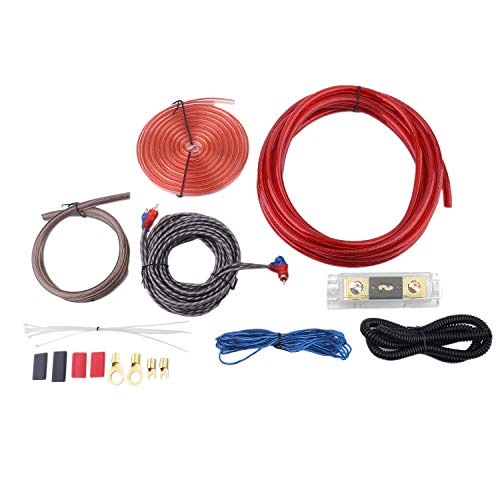 OKAYO Super Flexible Car Audio Wire Wiring Amplifier Subwoofer Speaker Installation Kit Installation Cables 5000W with Fuse Holder