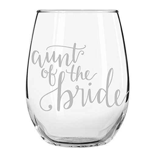 Aunt of Bride, Wedding Party Wine Glass