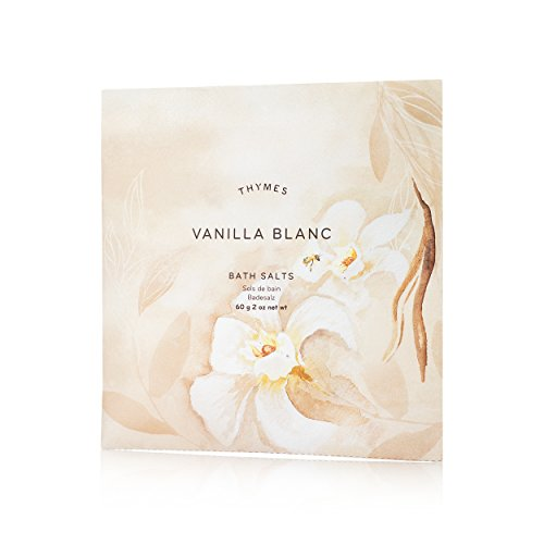 Thymes - Vanilla Blanc Bath Salts - Soothing Combination of Epsom and Sea Salt for Relaxing Bath Soak - 2 oz
