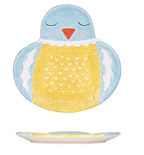 MISS TUTU Cartoon Animal Shaped Wool Embossed Texture Dinner Plate Dessert Plate