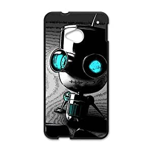 Personal Customization Cute Seated robot Cell Phone Case for HTC One M7