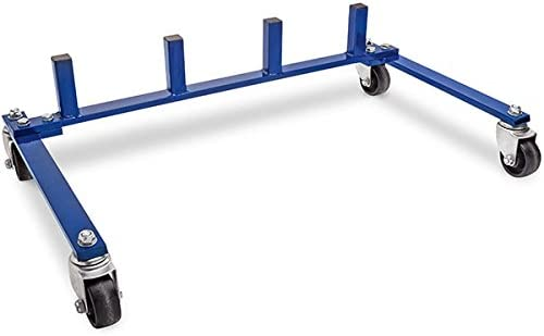 Tire Wheel Dolly Rolling Tire Cart BISupply 300 lbs Tire Storage Rack Car Tire Dolly for Tires Wheel Storage Rack