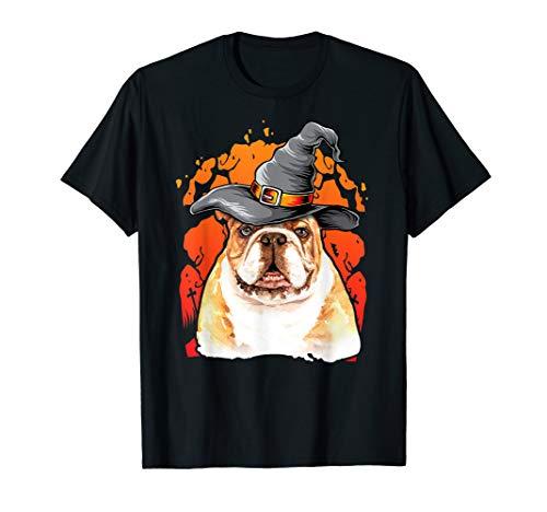 Bulldog Halloween Costumes Gift Shirt Happy Halloweenie Gift T-Shirt -