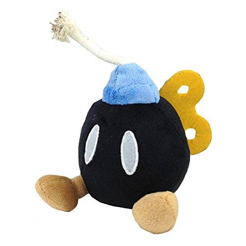 Super Mario Bros. 2 Bob-omb Bomb Black Plush Soft Toy Stuffed Animal 5.5