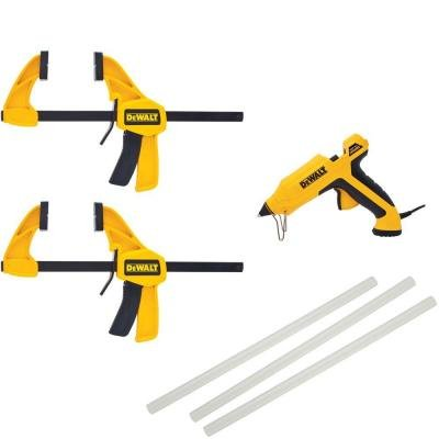 Dewalt Medium Clamps and Glue Gun Kit