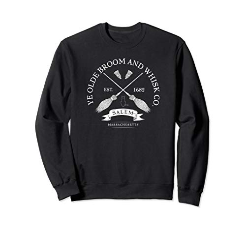Ye Olde Salem Broom Co. Mass 1682 Halloween Sweat -