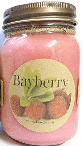 Bayberry 16oz Country Jar Soy Candle Handmade with an Essential Oil Blend- Approximate Burn Time 144 Hours
