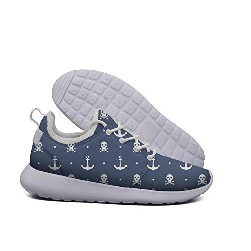 ERSER Anchor Skull Running Shoes Wide Width Women ()