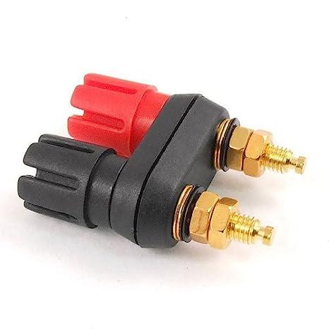 Dual 2-way Banana Plug Jack Terminal Extended Binding Post for Speaker Amplifier