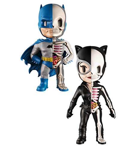 Catwoman Vinyl - Mozlly Value Pack - XXRAY DC Comics Golden Age Batman and Catwoman 4D Vinyl Action Figures by Jason Freeny - 4 inch - Handpainted - Designer Collectible Toys.