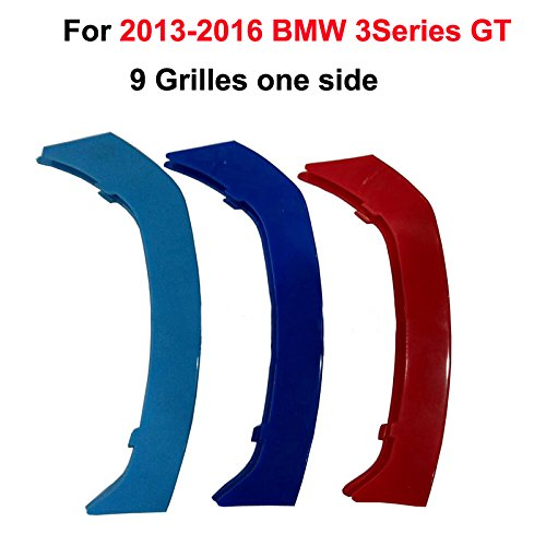 Tuqiang 3D Front Grill Trim Strip grille Cover Stickers For 2006-2009 E92 E93