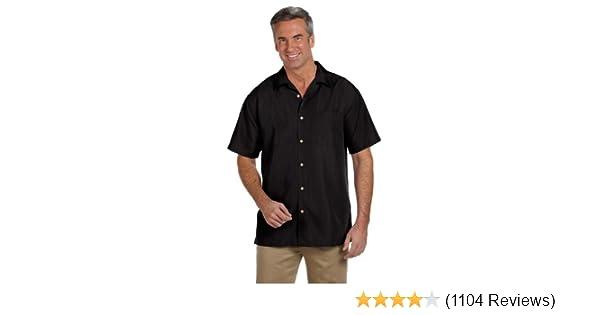 Harriton Mens Barbados Textured Camp Shirt PALM GREEN 3XL