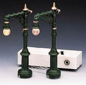 1996 Victorian Street Lamp Set of 2 Christmas Village Lighted Accessories
