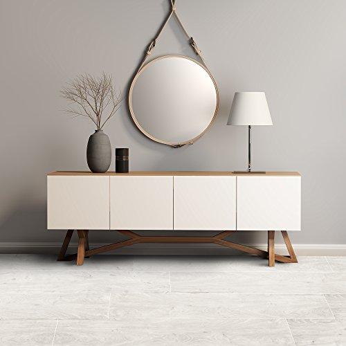 Achim Home Furnishings LSLYP10408 Flex Flor Looselay Plank 9in x 48in Whitewash-8 Planks/24 sq. ft. Vinyl Flooring