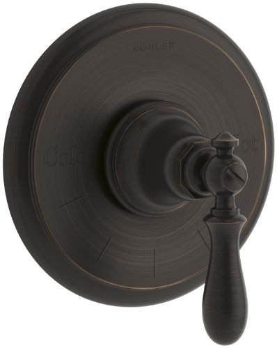 KOHLER K-T72769-9M-2BZ Artifacts Thermostatic Valve Trim with Swing Lever Handle, Oil-Rubbed Bronze