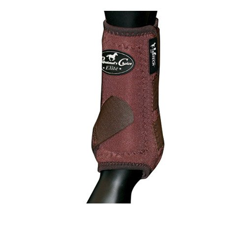 Professionals Choice Equine Sports Medicine Ventech Elite Front Leg Boot, Pair (Medium, Chocolate Brown)