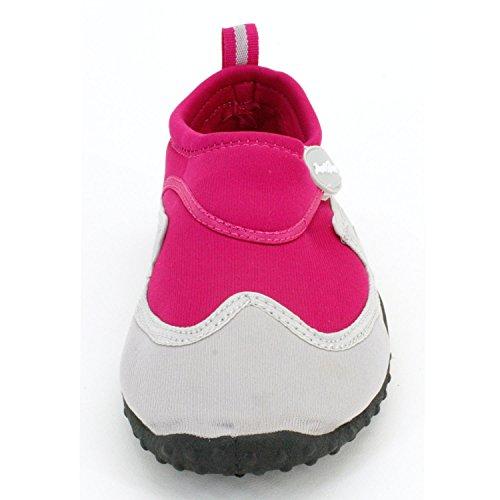 Bara Snabba Kvinnor Aqua Skor Aqua Socks- Material Som Andas, Max Slip Motstånd Och Fötter Skydd Fuchsia Grå