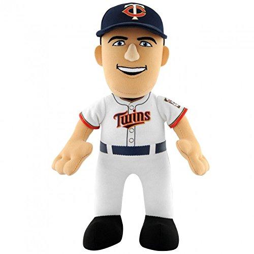 Bleacher Creatures MLB Minnesota Twins Joe Mauer Player Plush Doll, 10-Inch, White