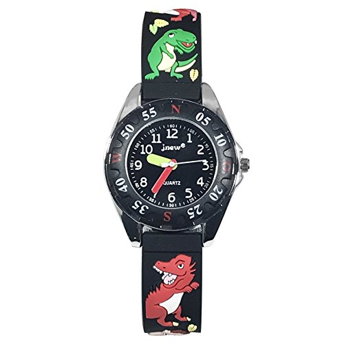 Venhoo Kids Watches 3D Cute Cartoon Waterproof Quartz Silicone Band Children Wrist Watches Time Teacher Gifts for Boys Child