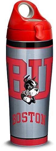 (Tervis 1314043 Boston University Terriers Tradition Stainless Steel Insulated Tumbler with Lid, 24oz Water Bottle, Silver)