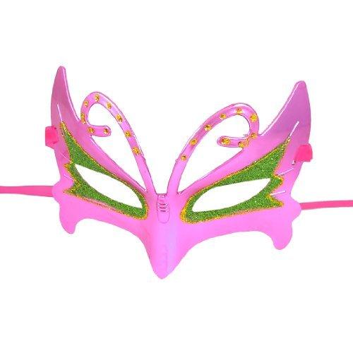 Glitter Powder Accent Ribbon Band Mask Purple Green Gold Tone