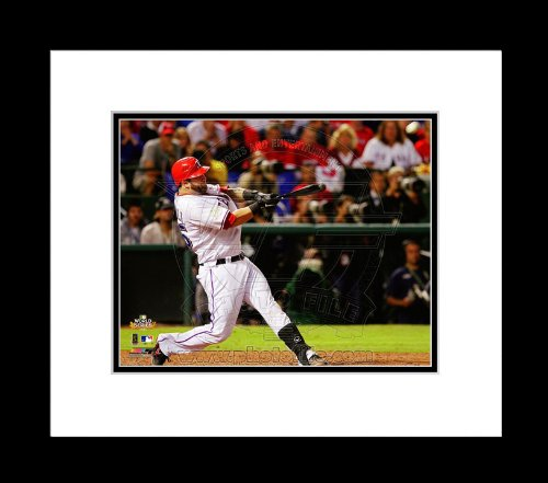 Texas Rangers Mike Napoli 2011 World Series Game 4 Home Run Framed Picture 8X10