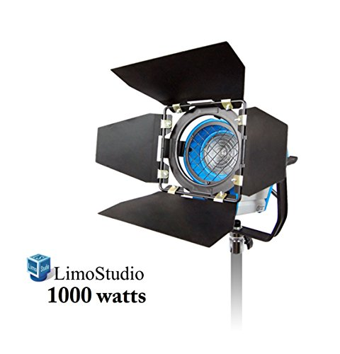 LimoStudio 1000 Watt Photography Photo Video Studio Light Head, Film and Television Tungsten Fresnel Continuous Light Spotlight, AGG1028 by LimoStudio