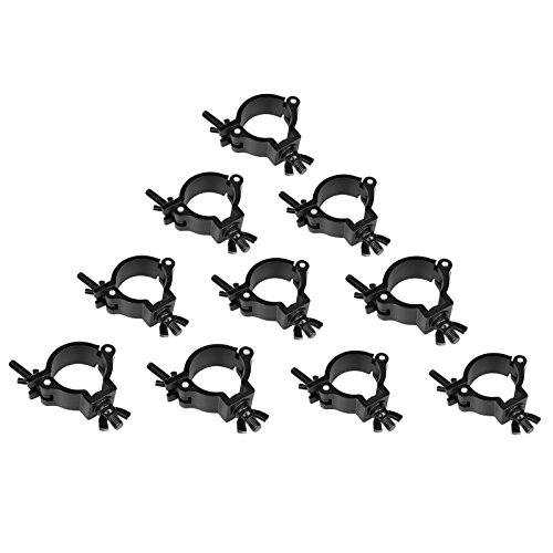 GBGS Lighting Truss DJ Light Clamps 2 Inch O Clamp Heavy Duty Aluminum Alloy 220 LBs for 1.88-2 Inch Pipe 10 Pack